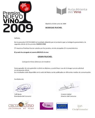 premio nuevo vino 2009